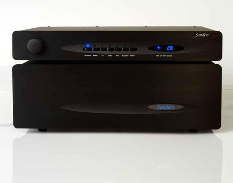 Sanders Sound Systems Amplifier and Preamplifier - Black